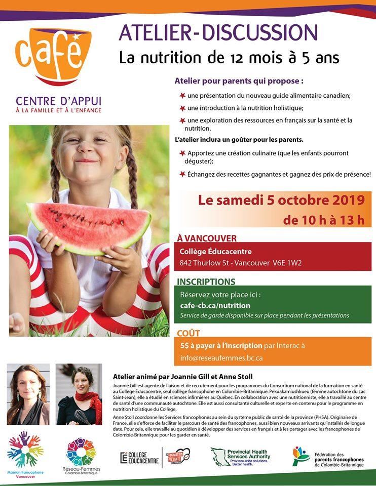 Affiche atelier nutrition
