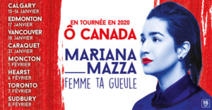 Affiche spectacle Mariana Mazza