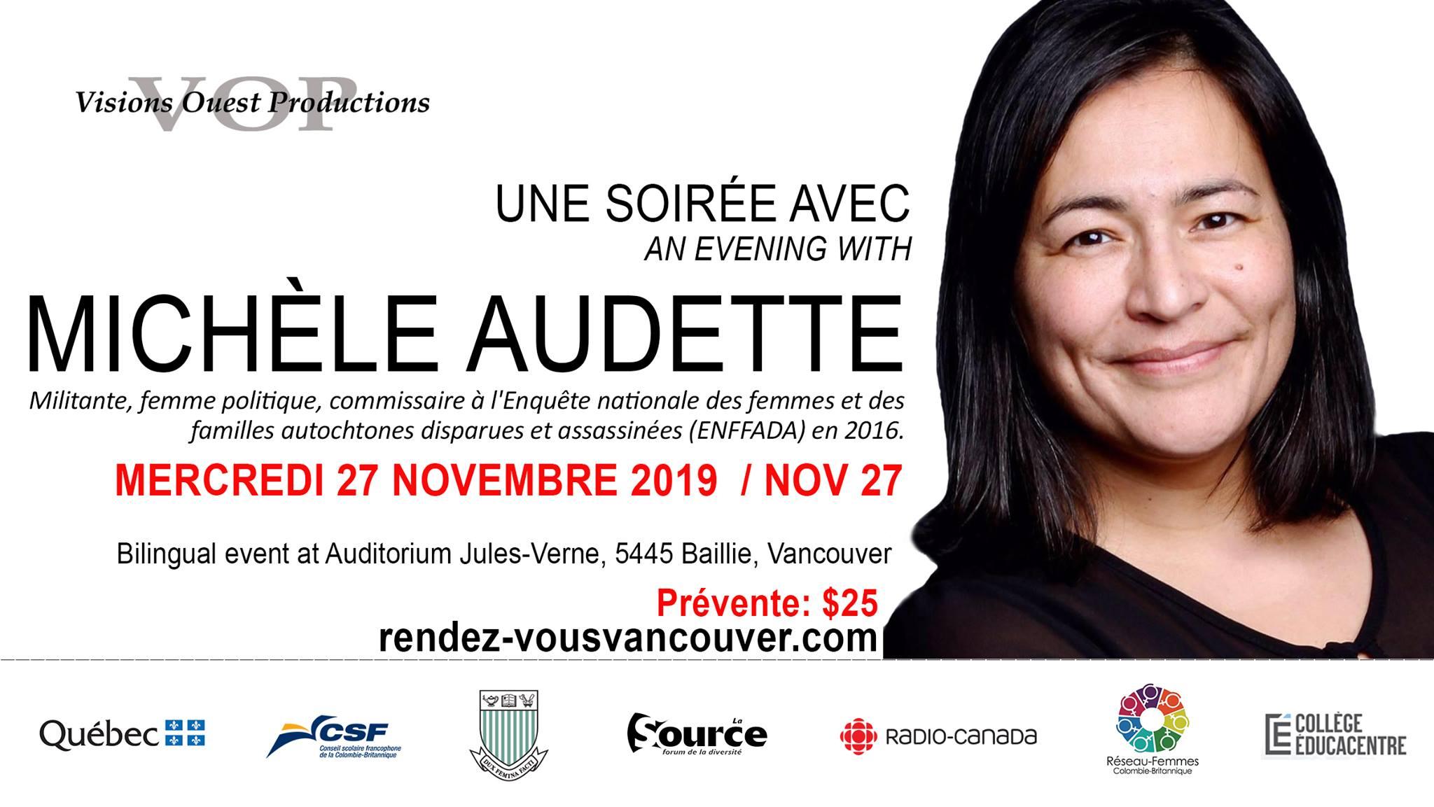 Soirée avec Michèle Audette (affiche)